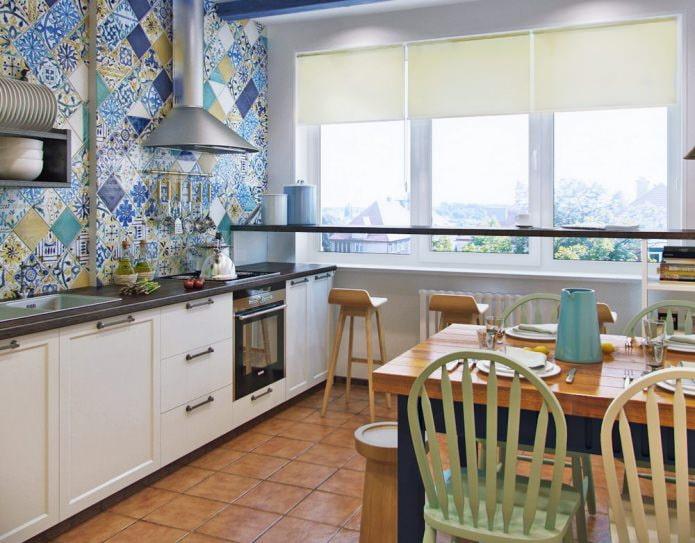 Carreaux patchwork dans la cuisine