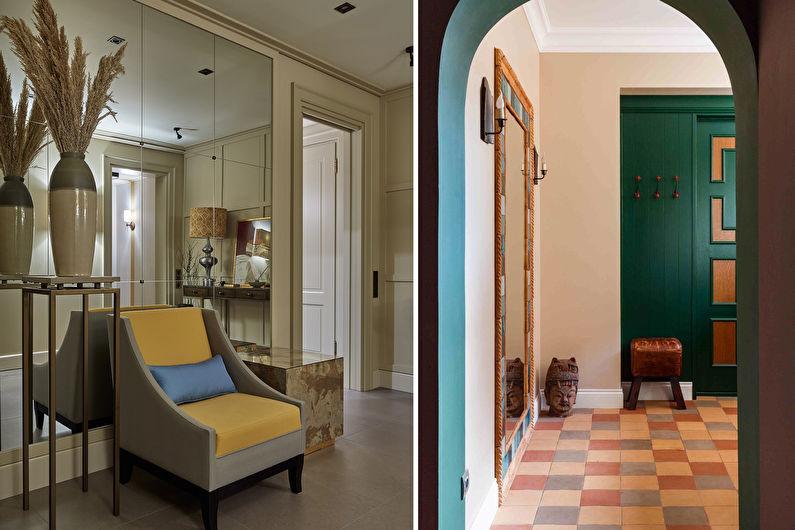Carrelage de couloir - Variations de couleurs