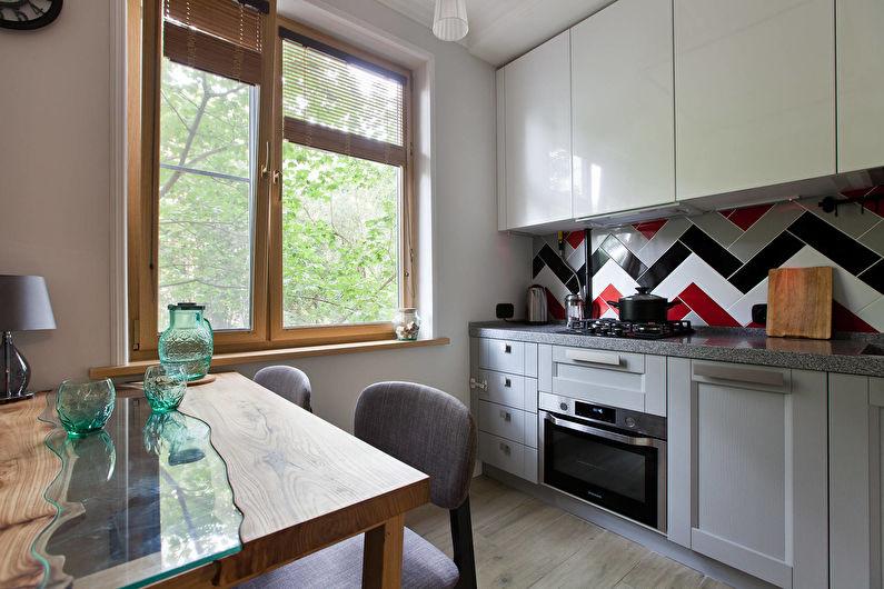 Cuisine légère dans un style moderne - Design d'intérieur