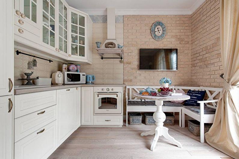 Cuisine lumineuse de style provençal - Design d'intérieur