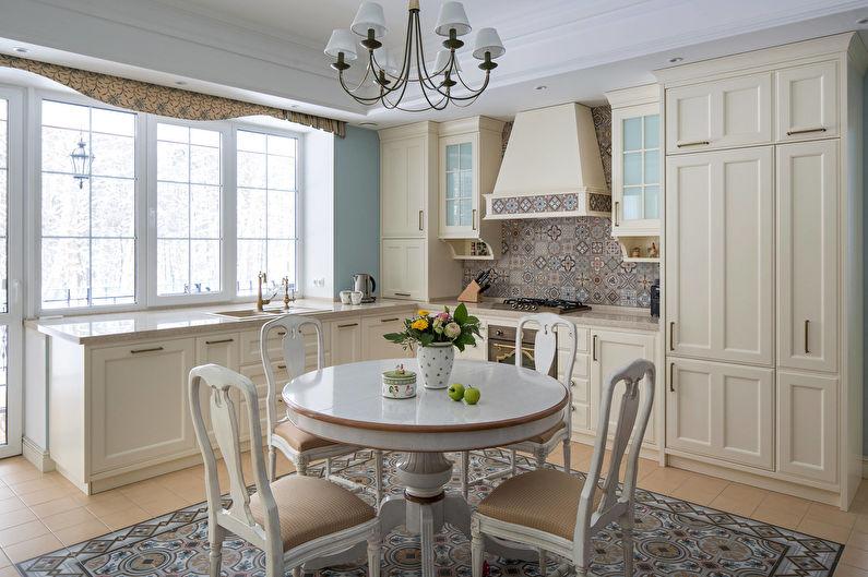 Cuisine légère de style classique - Design d'intérieur