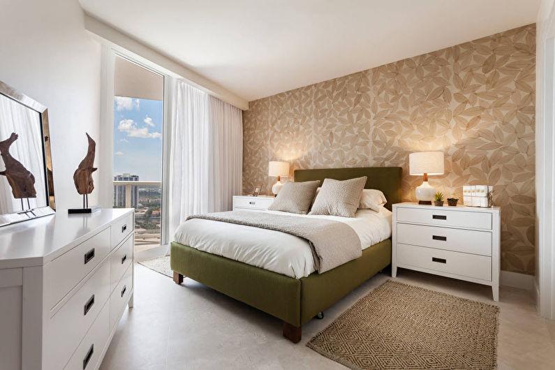Chambre à coucher moderne beige - Design d'intérieur