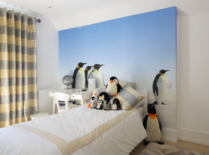 pingouins sur des photos murales