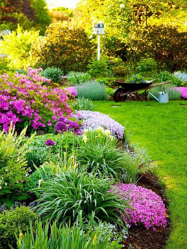 Si vous aménagez un jardin de fleurs à l'automne, il est conseillé de terminer toutes les transplantations au plus tard en septembre, afin que les plantes aient le temps de prendre racine avant le début du gel.