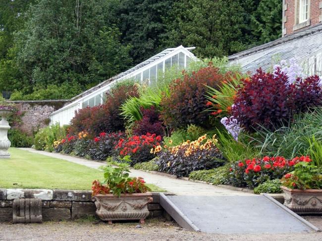 Les fleurs et les arbustes doivent être placés en groupes, et leur nombre dans un groupe dépend de la taille des plantes et de la superficie du jardin de fleurs.