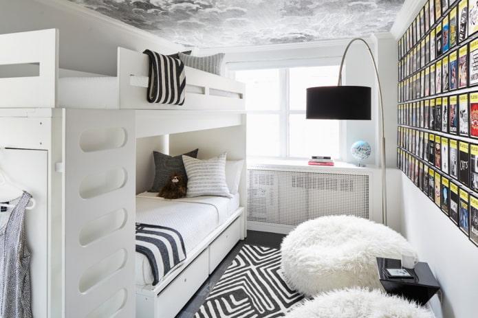 décoration de chambre en blanc