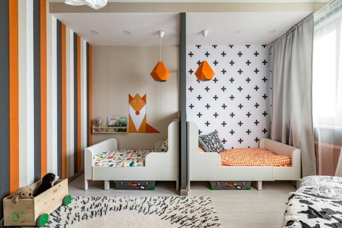 chambre pour un garçon et une fille