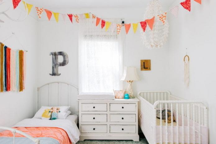 chambre pour deux enfants d'âges différents