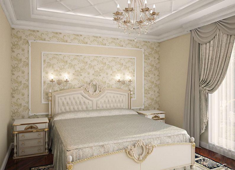 La combinaison de papier peint dans la chambre - Panneaux muraux et niches