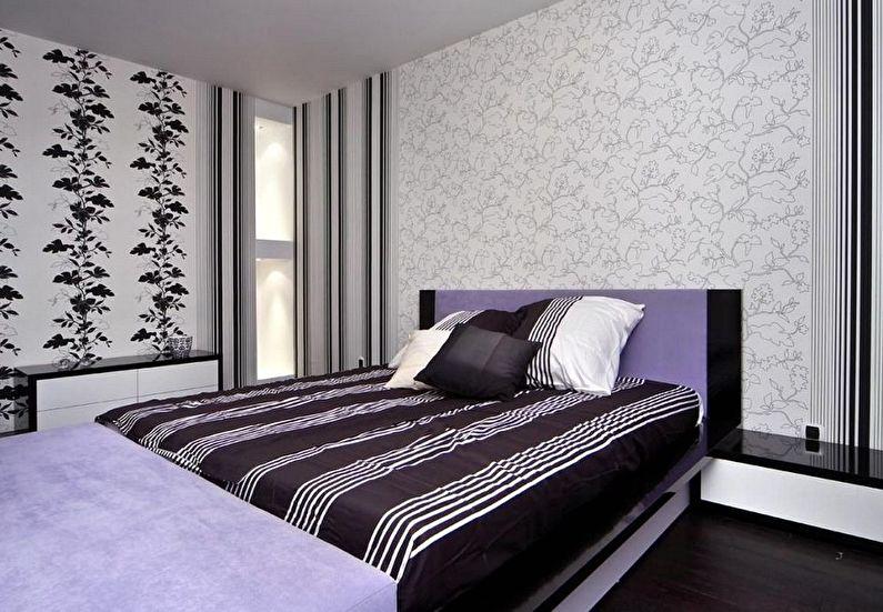 Combinaison verticale de papier peint dans la chambre