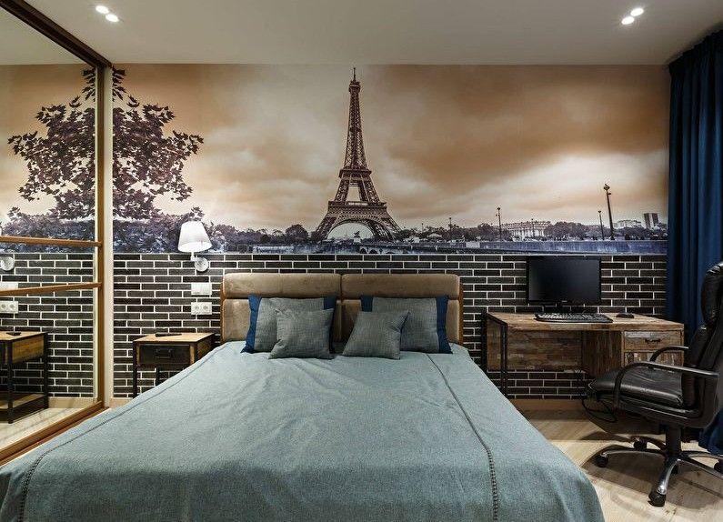 Combinaison horizontale de papier peint dans la chambre