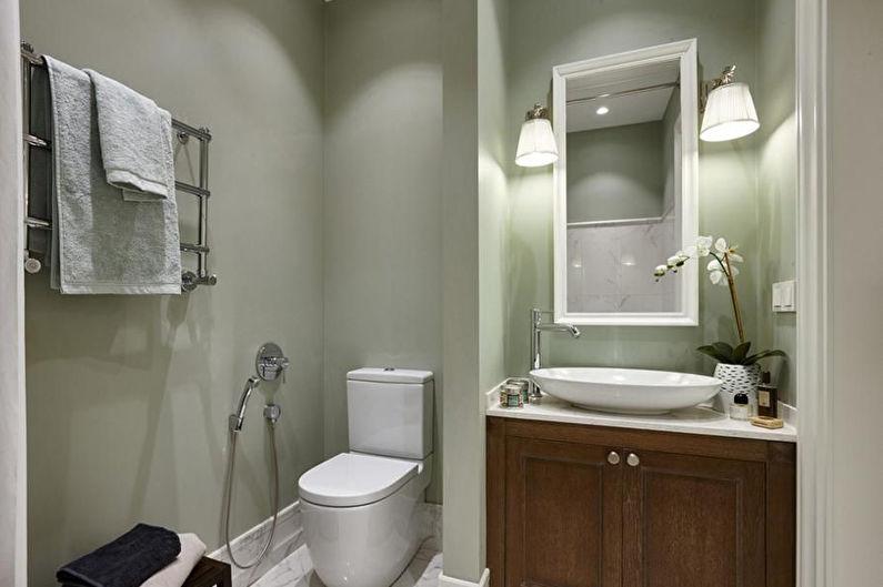 Matériaux pour décorer les murs de la salle de bain - Peinture