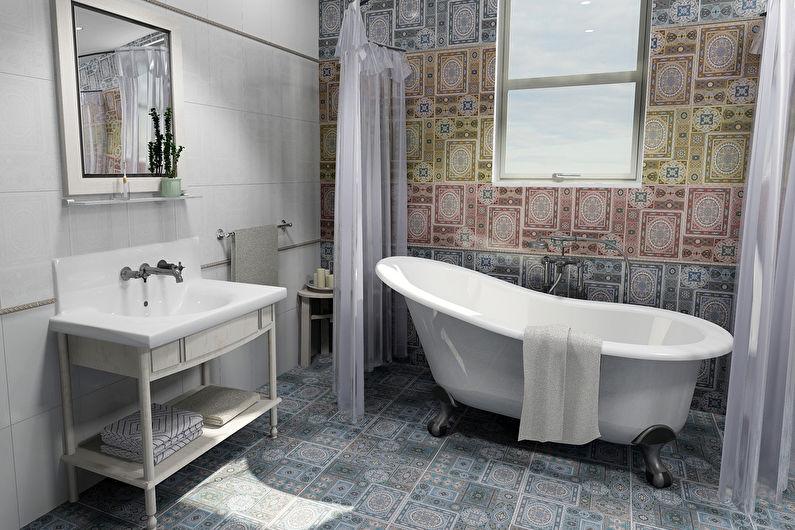 Matériaux pour décorer les murs de la salle de bain - Carreaux de céramique