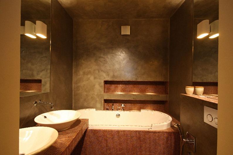 Matériaux pour la finition des murs de la salle de bain - Enduit décoratif