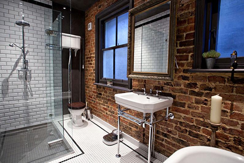Matériaux pour décorer les murs de la salle de bain - Brique