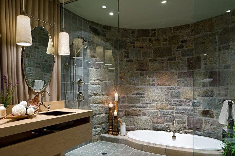 Matériaux de mur de salle de bain - Pierre décorative