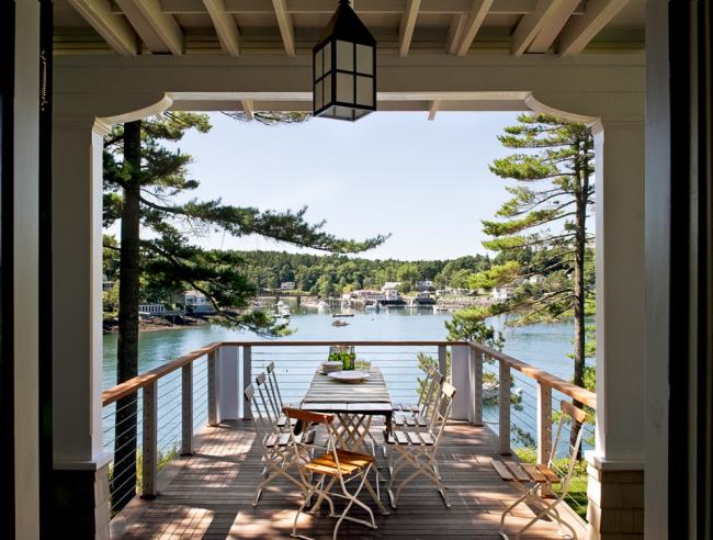 Véranda avec balcon (photo) et vue magnifique sur l'étang
