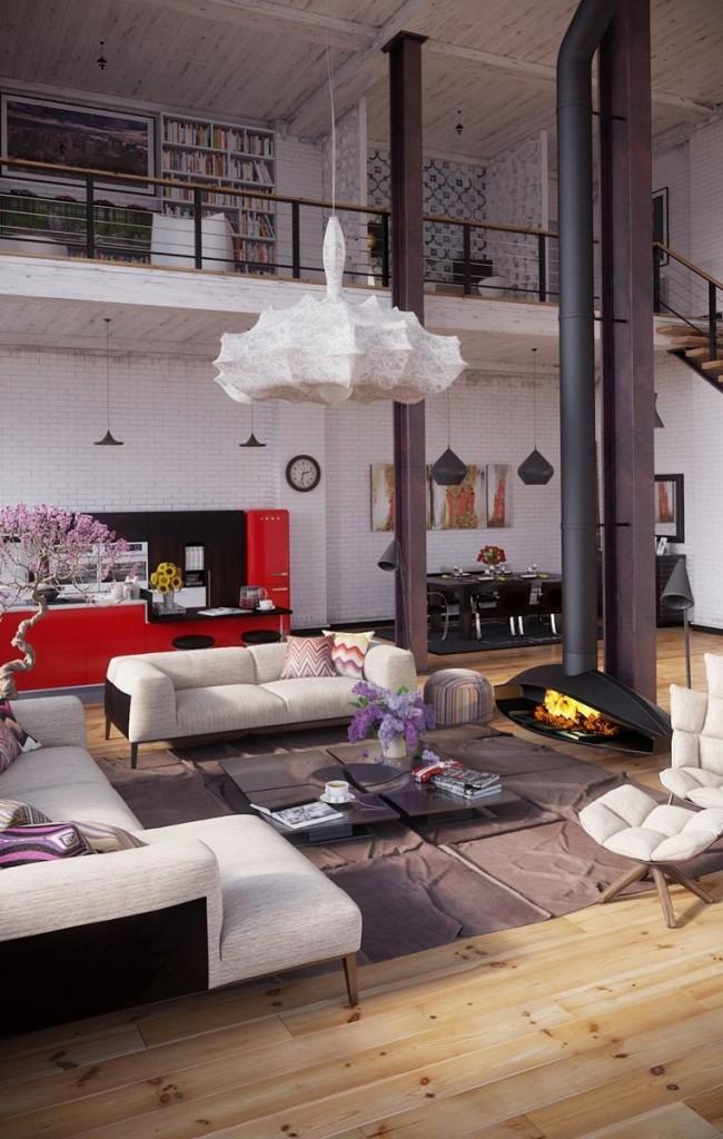 Loft spacieux sur deux étages