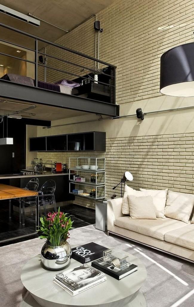 Logement duplex avec espace inférieur combiné