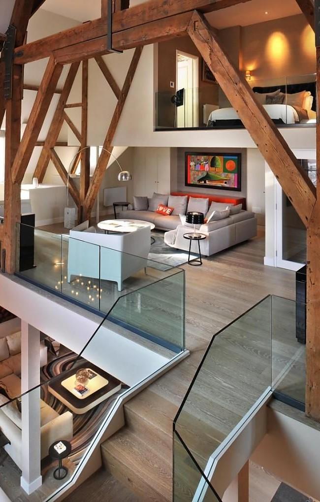 Appartement confortable sur trois niveaux