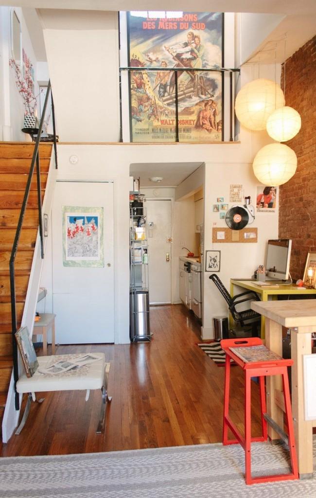 Appartement duplex éclectique