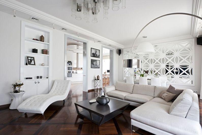 Salon Art Déco Blanc - Design d'intérieur
