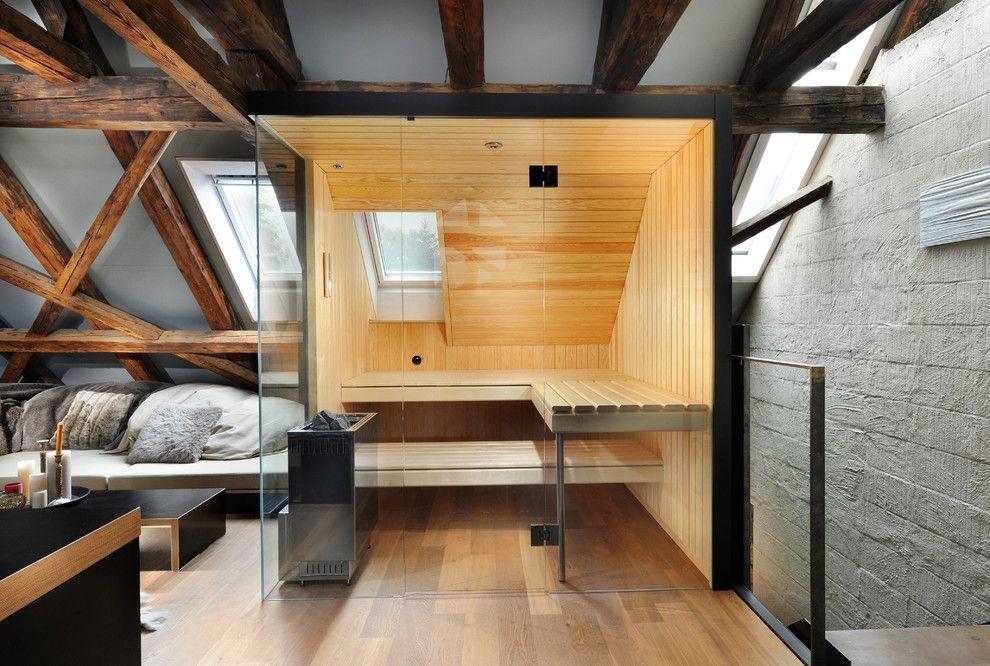 Decking dans la décoration de sauna