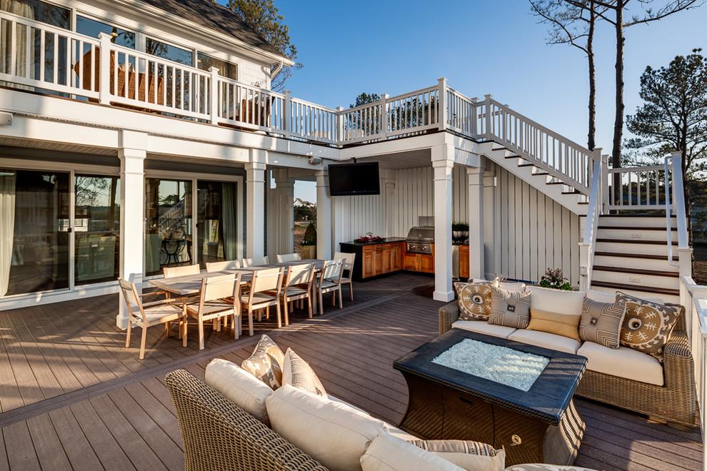 Terrasse en bois traité thermiquement