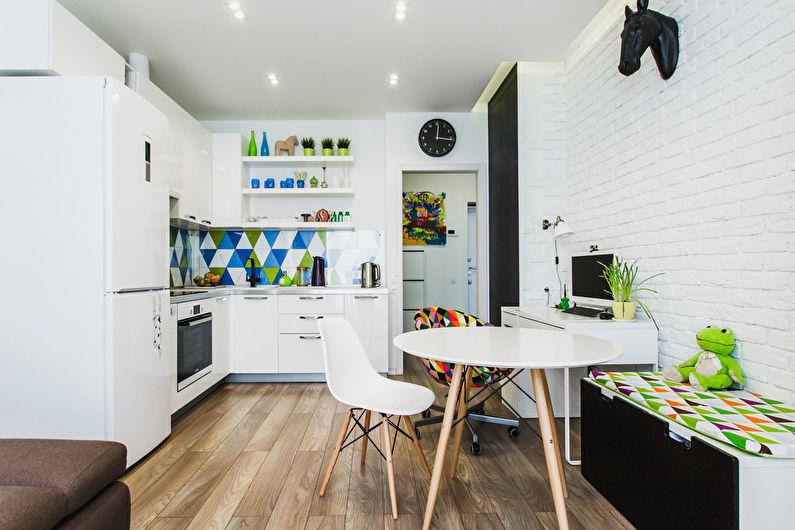 Conception de cuisine 12 m²  dans le style scandinave