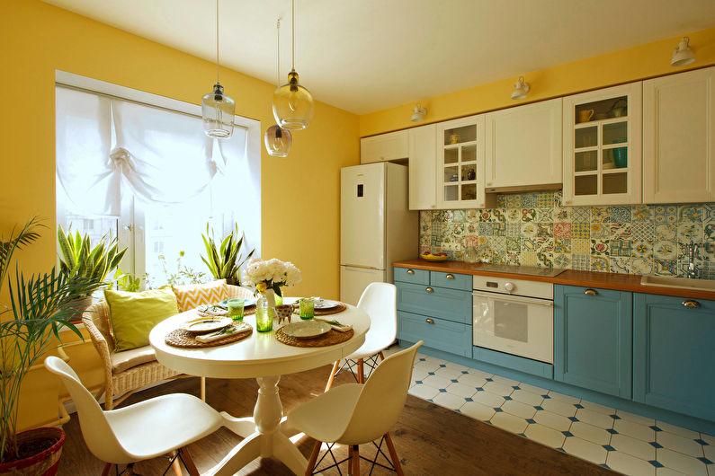 Conception de cuisine 12 m²  à la provençale