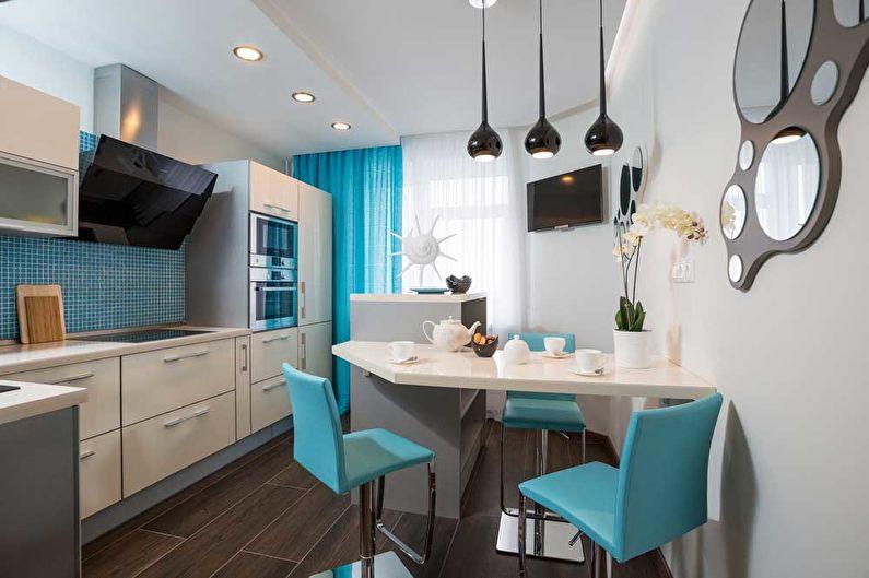 Conception de cuisine 12 m²  dans un style moderne