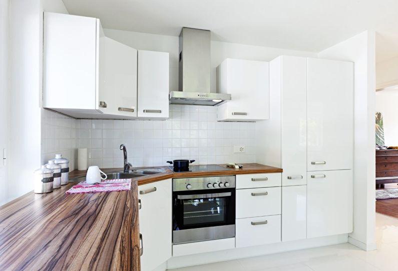 Cuisine blanche 12 m²  - Design d'intérieur