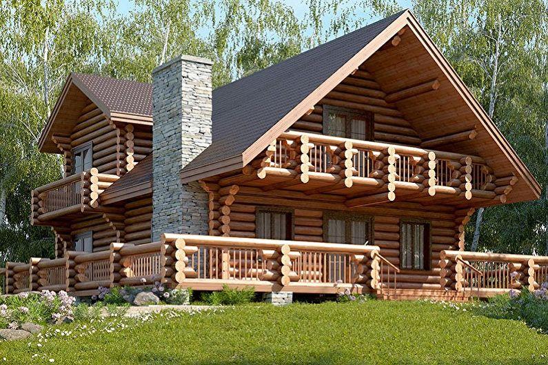 Projets de maisons en rondins modernes - Maison en rondins de style chalet