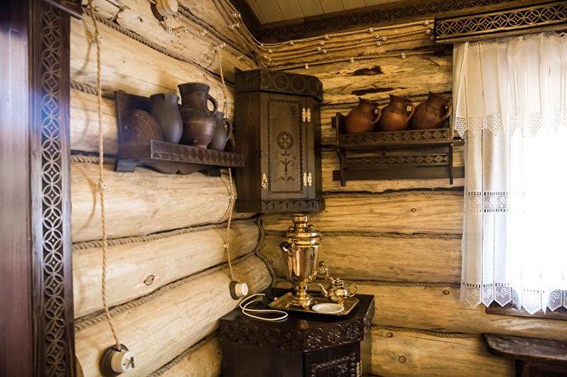 Bain dans le style russe ancien - Design d'intérieur