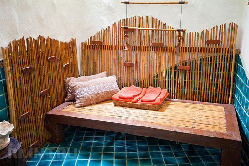 Intérieur de bain et salles de repos - Caractéristiques