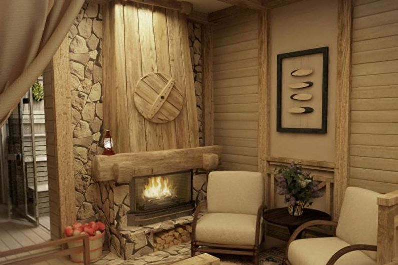 Baignoire de style campagnard - Design d'intérieur