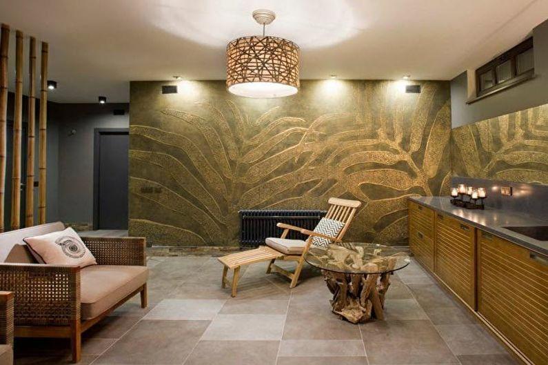Sauna dans le style Art Nouveau - Design d'intérieur