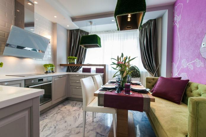 cuisine-séjour 14 m²
