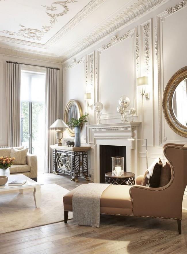 Les moulures peuvent être de différentes couleurs, et la forme et la largeur des éléments décoratifs varient également, selon le style de l'intérieur et vos préférences personnelles.