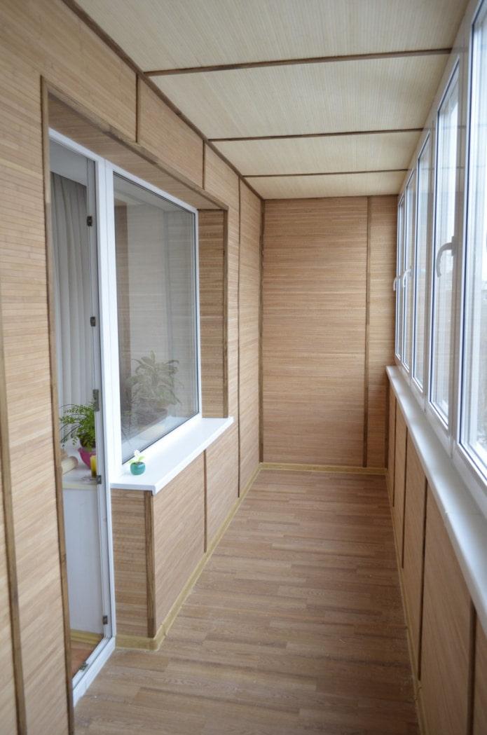 garniture de balcon en bambou