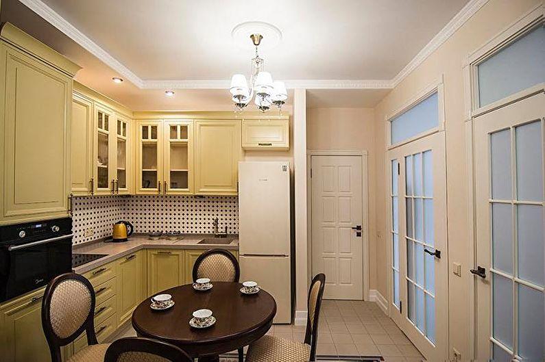Cuisine jaune classique - Design d'intérieur