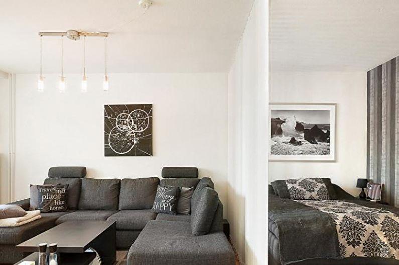 Zonage d'une pièce en chambre et salon - Textiles