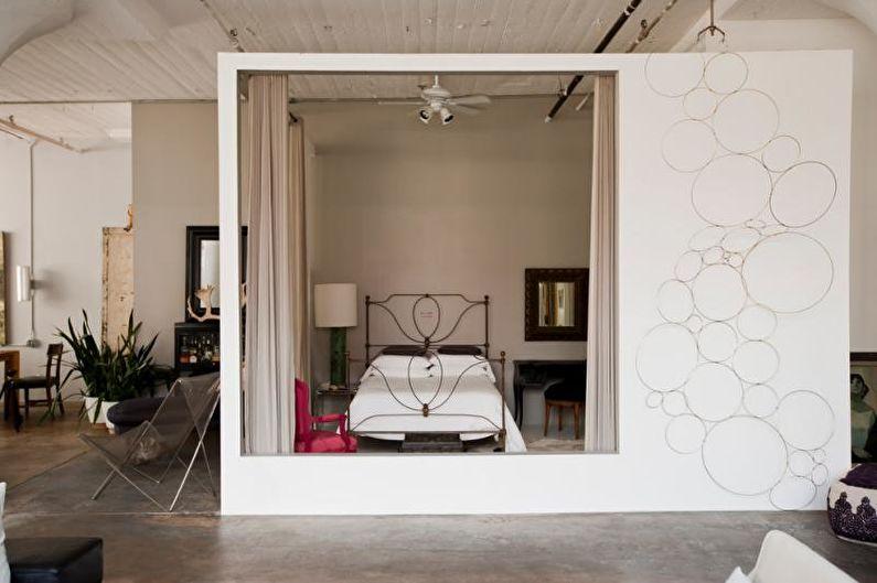 Zonage salon-chambre - photo