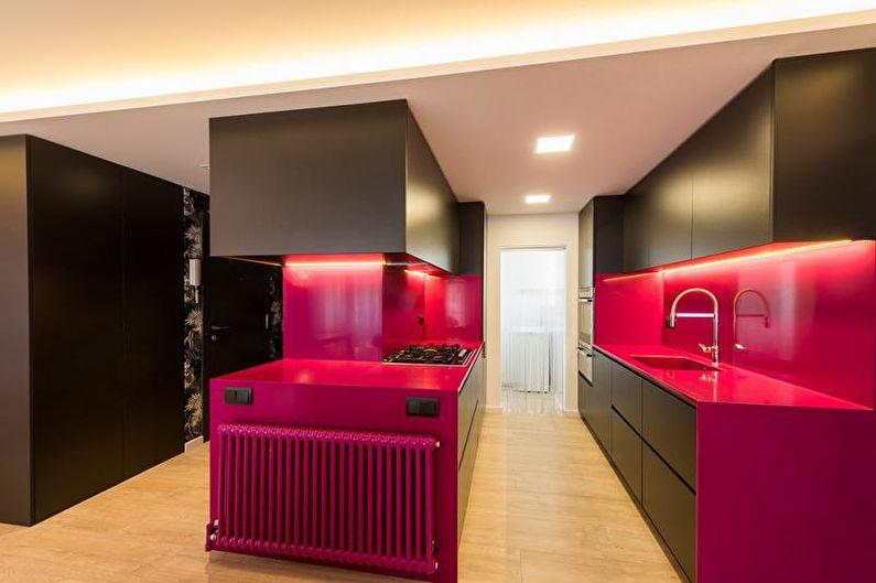 Belles photos de cuisine - Cuisine modulée aux couleurs vives