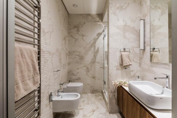 aménagement et zonage de la salle de bain combinée