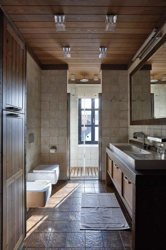 salle de douche avec fenêtre