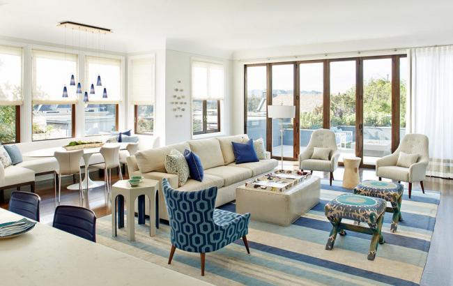 La palette de bleu est une couleur caractéristique du style provençal