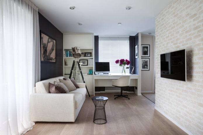 réaménagement d'un appartement d'une pièce à Khrouchtchev
