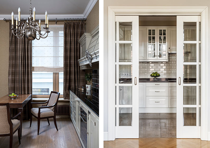 Cuisine 7 m²  dans le style des classiques modernes - Design d'intérieur