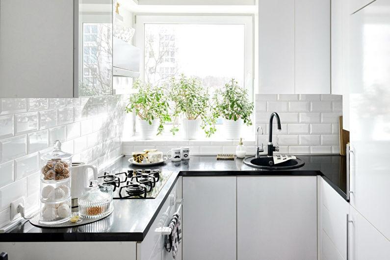 Cuisine 7 m²  dans un style scandinave - design d'intérieur